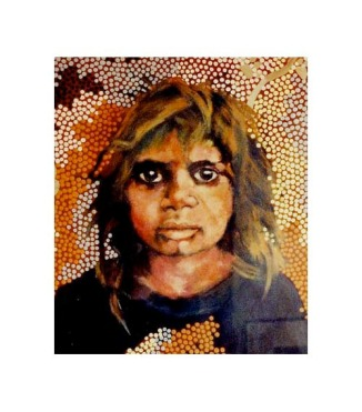 Little Girl Fom Ali -Curung by Milanka J Sullivan and Clifford Possum Tjapaltjarri